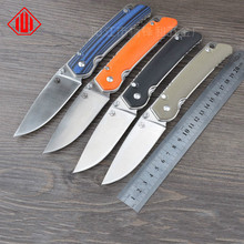 Selling high-end brand tactical knife G10 treatment D2 steel survival knife outdoor tools Folding camping