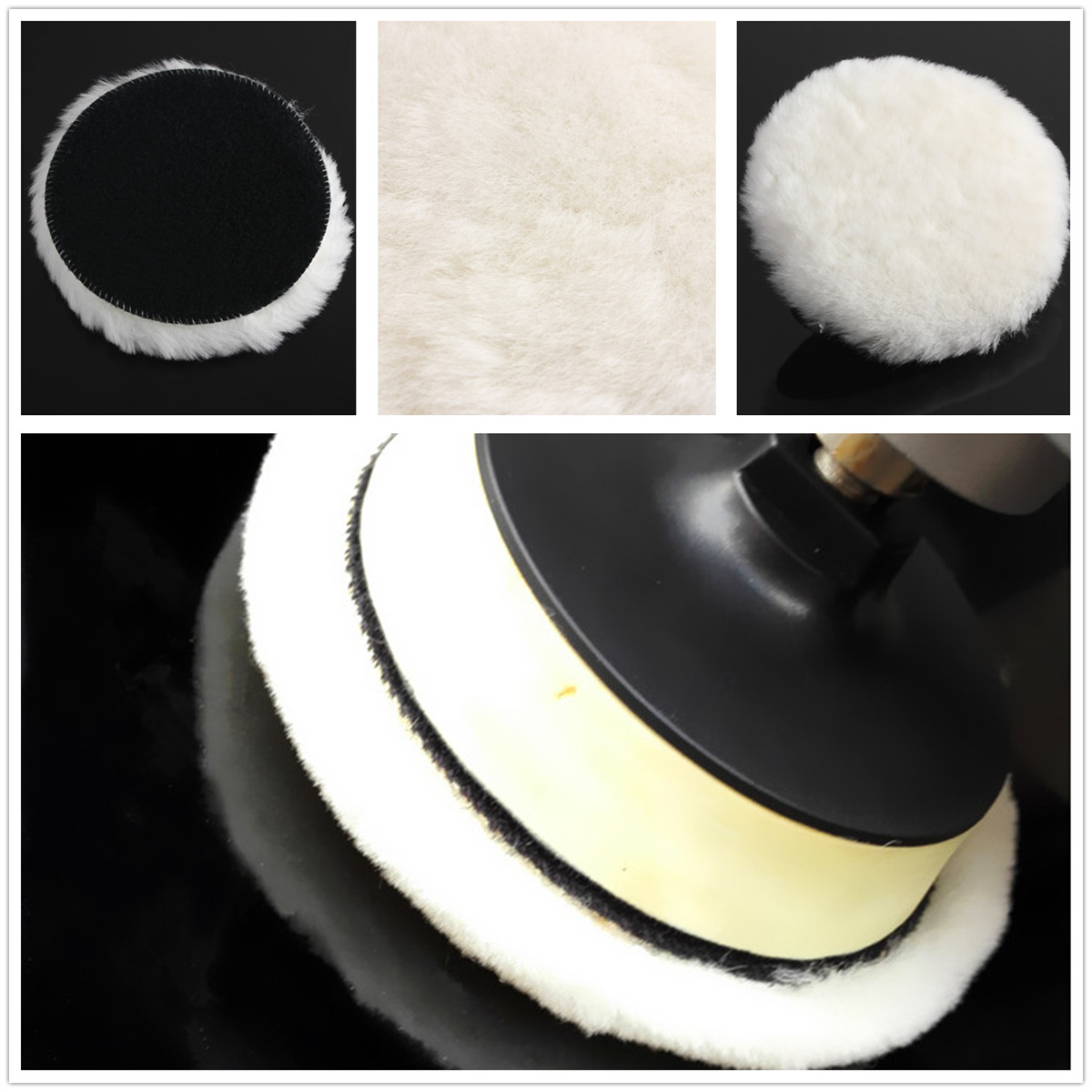 6'' Polishing Bonnet Buffer Polishing Pad Magic Patch For Car Polisher Detailing Polishing