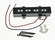 KAISH Black J Bass Bridge Pickup 8.0K Bass Pickups for 4 String Jazz Bass Guitar
