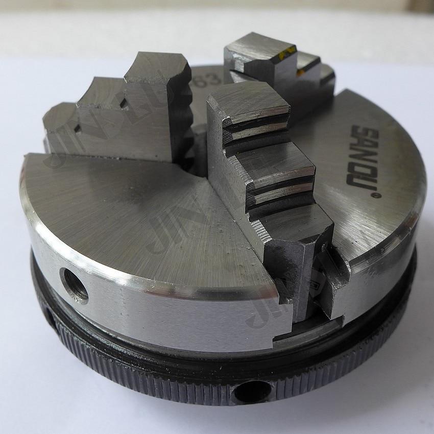 3 állkapocsos mini esztergatokó öncentrikus tokmány SANOU K01-63 - Szerszámgépek és tartozékok - Fénykép 2