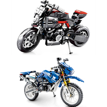 Technic Motorcycle Building Blocks Bricks toys  toys for children Harley Vehicle Educational building block Children's toys lepin 20055 1180pcs technic mechanical series the rescue vehicle set 42068 children educational building blocks bricks toy gift