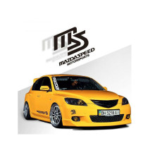 14*12cm Car Sticker MS SPEED MAZDASPEED Sticker Personalized Styling for Mazda 3 Mazda 6 Mazda cx5 2018(China)