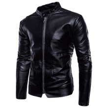 New Mens Leather 2019 European And American Large Size Jacket Black Casual Business