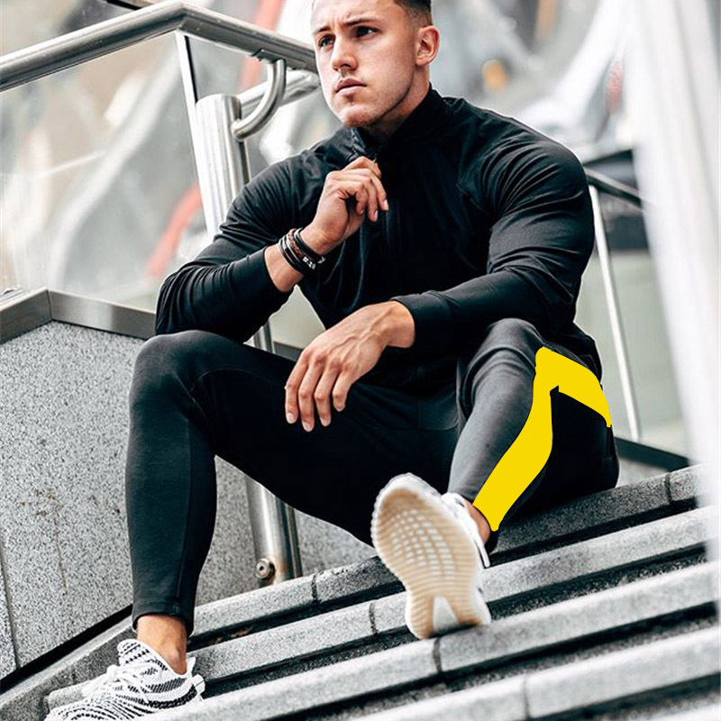 HTB1twuTXoz1gK0jSZLeq6z9kVXaO ENJPOWER New Men Pants Hip Hop Fitness clothing Joggers Sweatpants Side stripe classic fashion Streetwear Track Pants Trousers