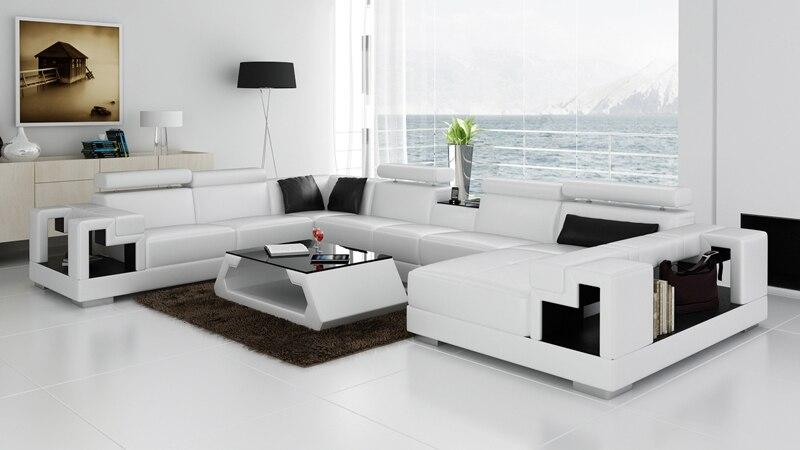 Soggiorno mobili divano a forma di U divano ad angolo moderno ...