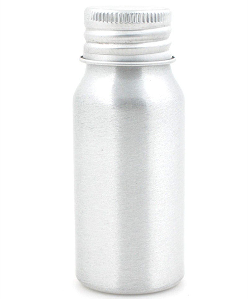 30ml Sliver Metal Bottle With Lined Aluminum Silver/gold Lid,1oz Empty Aluminum Bottles,
