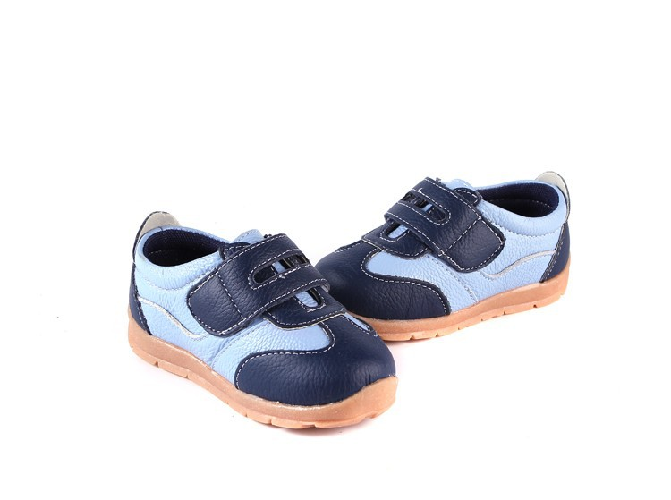 SandQ baby Boys sneakers soccers shoes girls sneakers Children leather shoes pink red black navy genuine leather flexible sole 10
