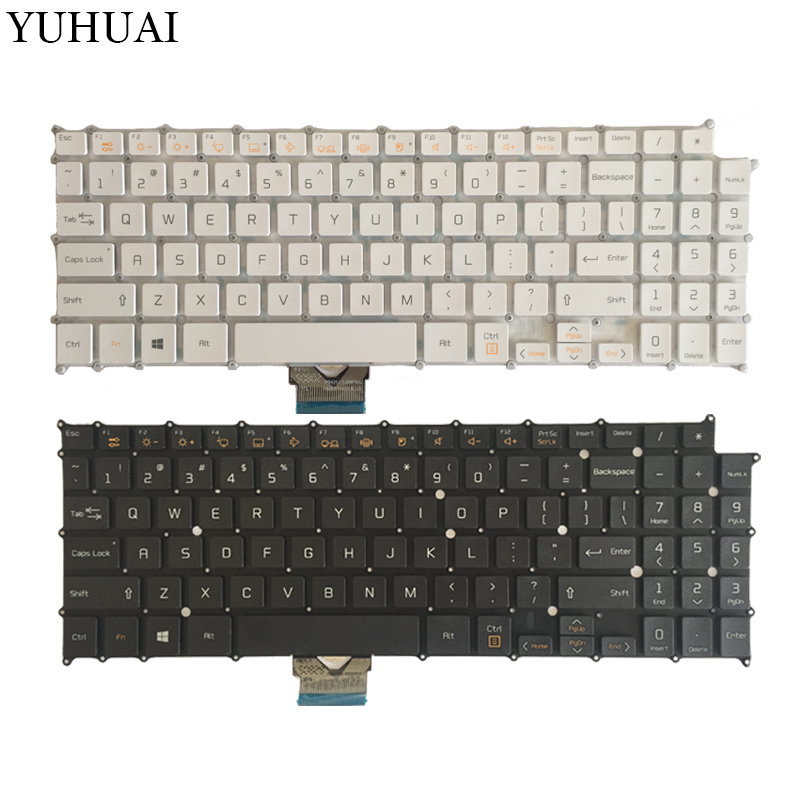 US Laptop Keyboard For LG 15Z960 AEW73709802 HMB8146ELB01 English laptop keyboard black white new us keyboard for samsung 300e5k np300e5k english laptop keyboard black and white