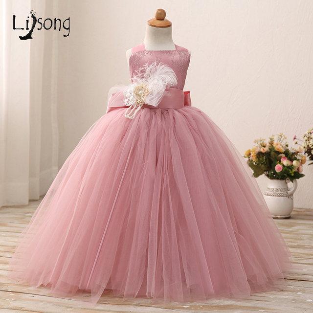 Dusty pink flower girl dress ball gowns floor length soft tulle girl dusty pink flower girl dress ball gowns floor length soft tulle girl tutu gowns for wedding mightylinksfo