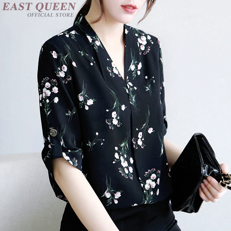 Summer tops for women 2018 women shirts blouser shirts women summer 2018 floral print loose fashion chic tops AA3849 Y A