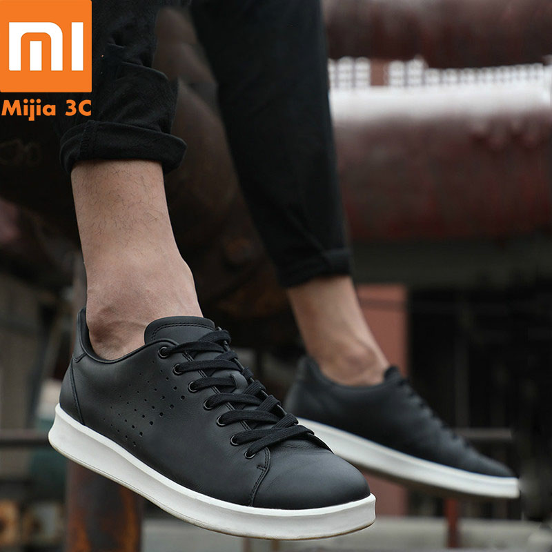 Original Xiaomi Mijia Genuine Leather PlateShoes Comfortable Fashion Leisure Men and Women Skateboard Shoes Support Smart ChipOriginal Xiaomi Mijia Genuine Leather PlateShoes Comfortable Fashion Leisure Men and Women Skateboard Shoes Support Smart Chip