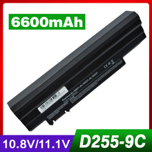 6600mAh laptop battery for ACER LC.BTP00.129 Aspire One AO522 AOD255E AOD257 AOD260 AOD270 AOE100 D257 D257E D260 D270 E100 522