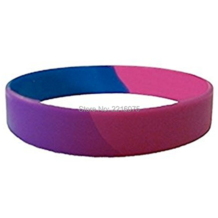 300pcs bisexual pride silicone wristband rubber bracelets free shipping by DHL express