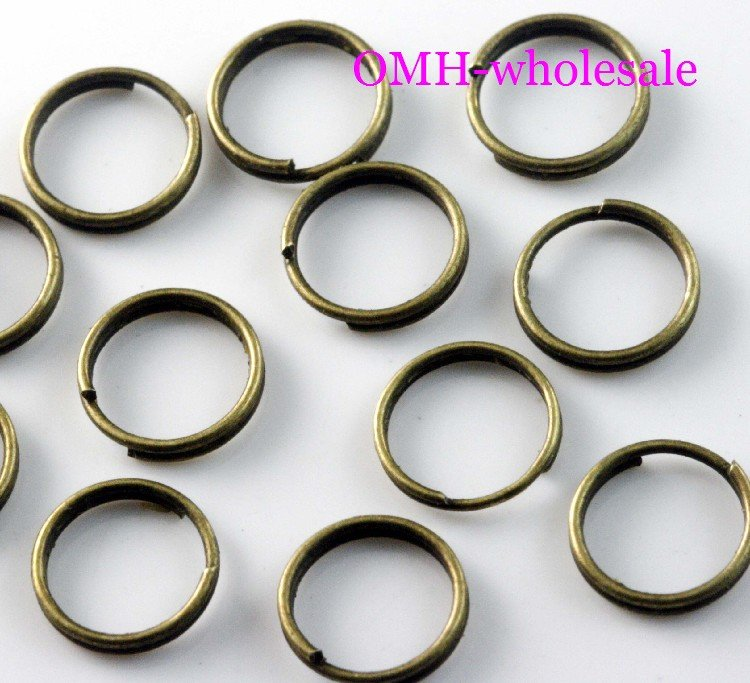 b84781b61a4 OMH wholesale 12mm 450pcs Jewelry accessories Finding DIY circle bronze  Plated Open Metal split Rings DY50