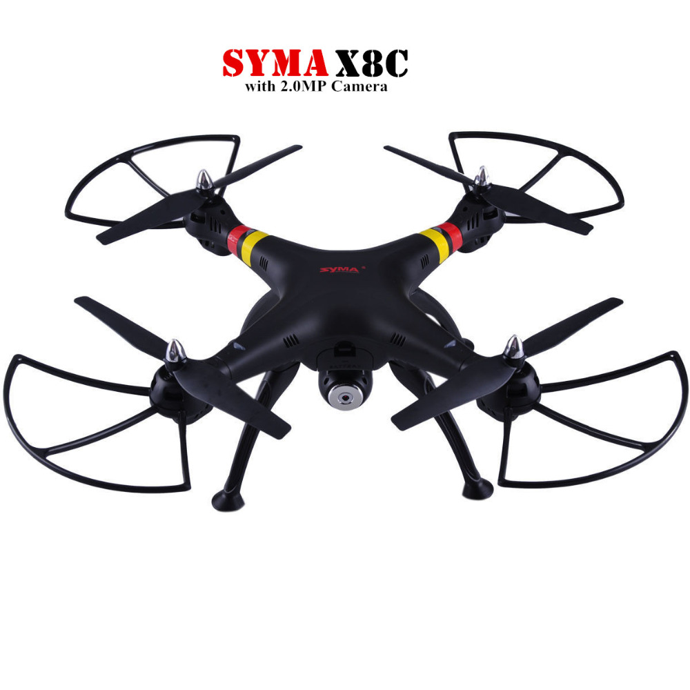 High quality Syma X8C 2.4Ghz 6-Axis Gyro UAV RTF UFO with Wide Angle 2MP HD Camera RC Drone Quadcopter Helicopter original jjrc h28 4ch 6 axis gyro removable arms rtf rc quadcopter with one key return headless mode drone
