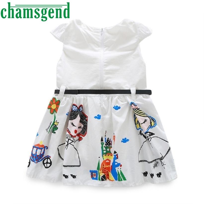 Bbay Обувь для девочек Платья для женщин одежда милое белое платье с героями мультфильмов для девочек платье принцессы ap0322-2