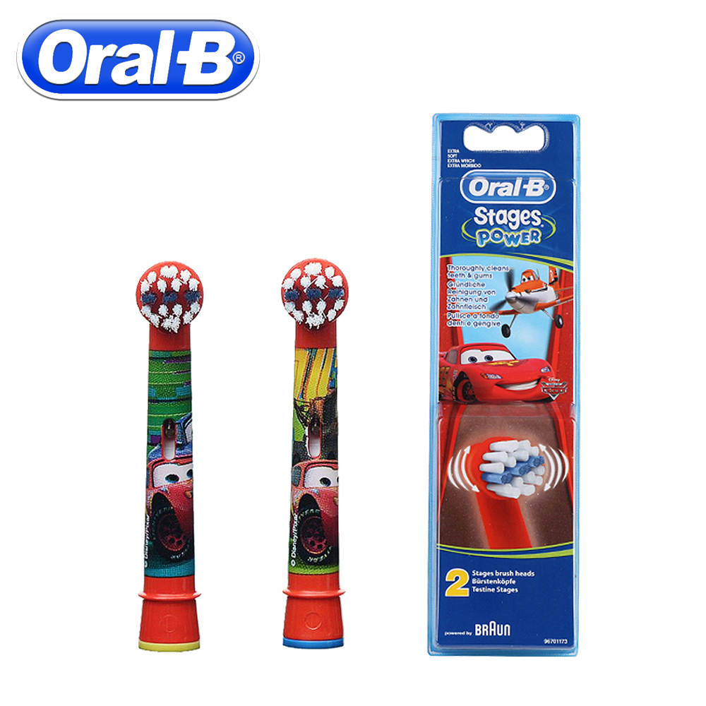 2pc/Pack Oral B Children Electric Brush Heads Cartoon Replacement Rotating Toothbrush Head Oral Hygiene Soft Brush Head For Kids 5