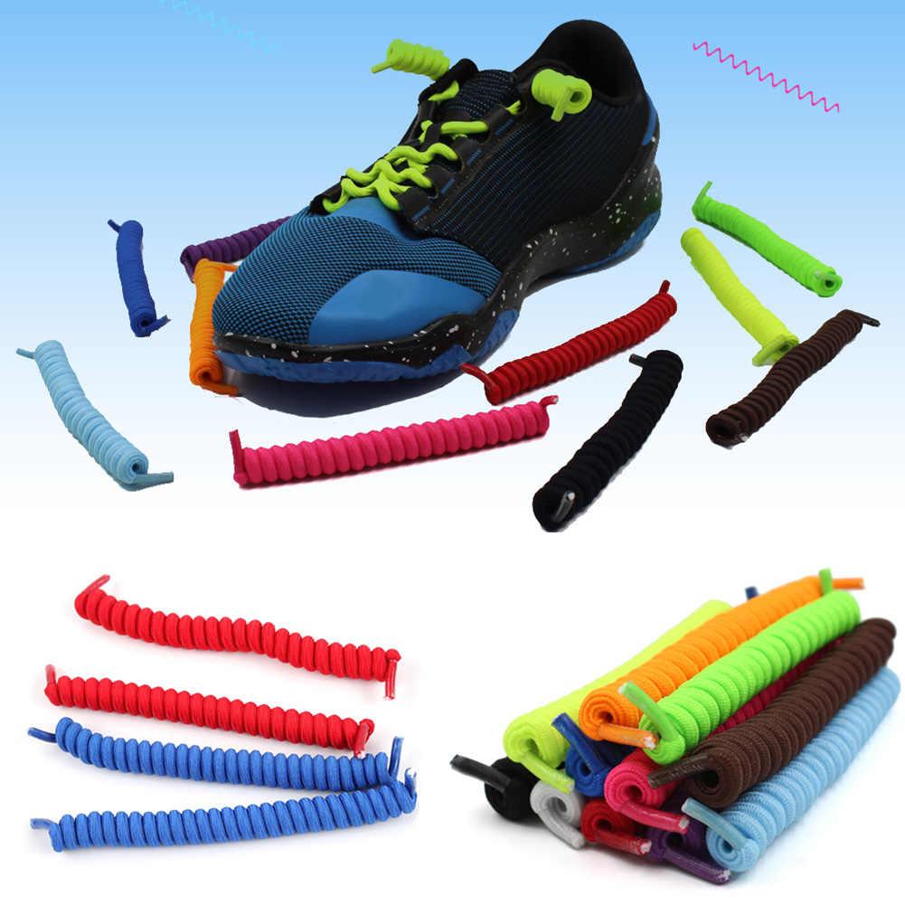 عالية مرونة كسول أربطة الحذاء لا التعادل أربطة الحذاء سيليكون الصلبة حذاء جلد للنساء الأطفال الرجال حذاء رياضة المطاط أربطة الحذاء