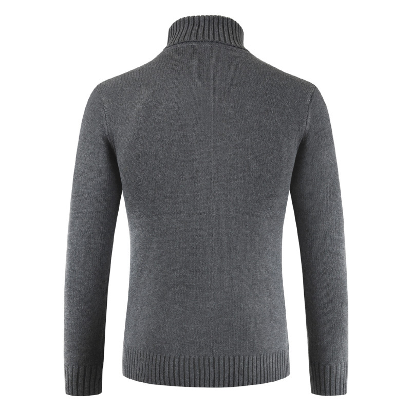 PADEGAO 2018Autumn winter men sweater Men 39 s high collar solid color Recreational sweater Slim Fit Brand Knitted warm Pullovers in Pullovers from Men 39 s Clothing