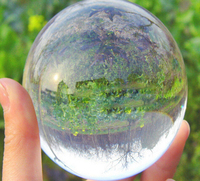 100mm Clear Round Glass Artificial Crystal Healing Ball Sphere Decoration, best gift for your friend!