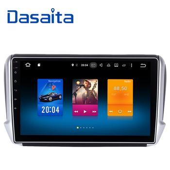 Dasaita 10.2 Android 9.0 Car GPS Player for Peugeot 208&2008 2012-2016 with Octa Core 4GB Ram Auto Radio Multimedia GPS NAVI 4G