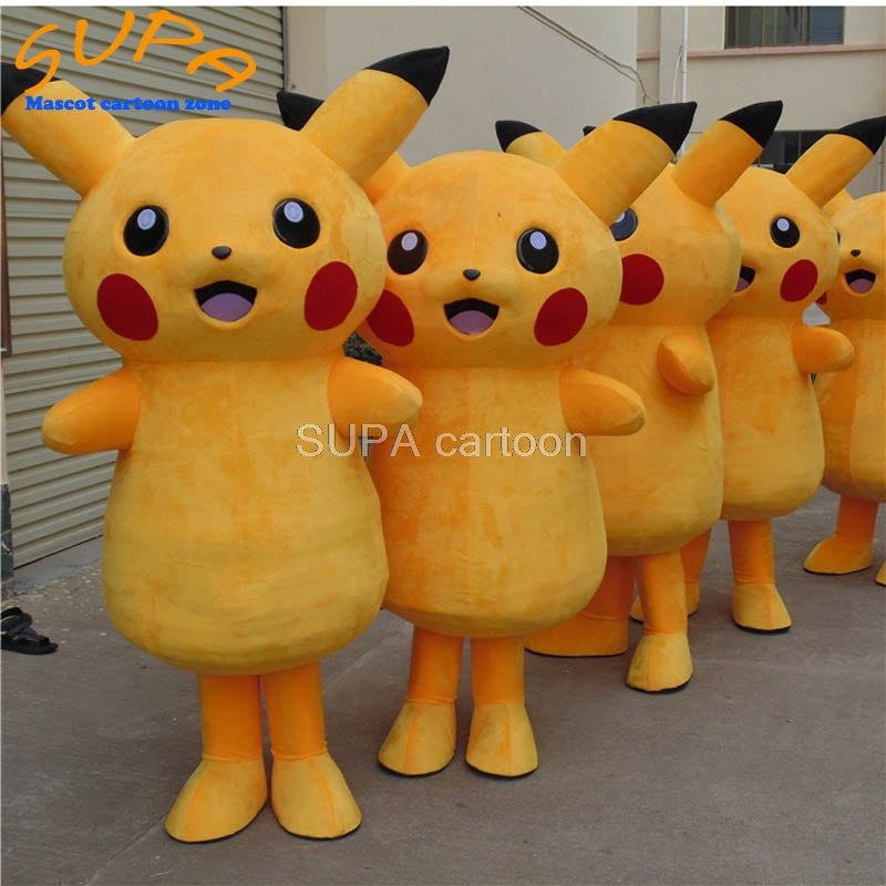 US $140 0 |Custom cute Japan plush cartoon character advertising pikachu  mascot costumes EVA foam for adults-in Mascot from Novelty & Special Use on