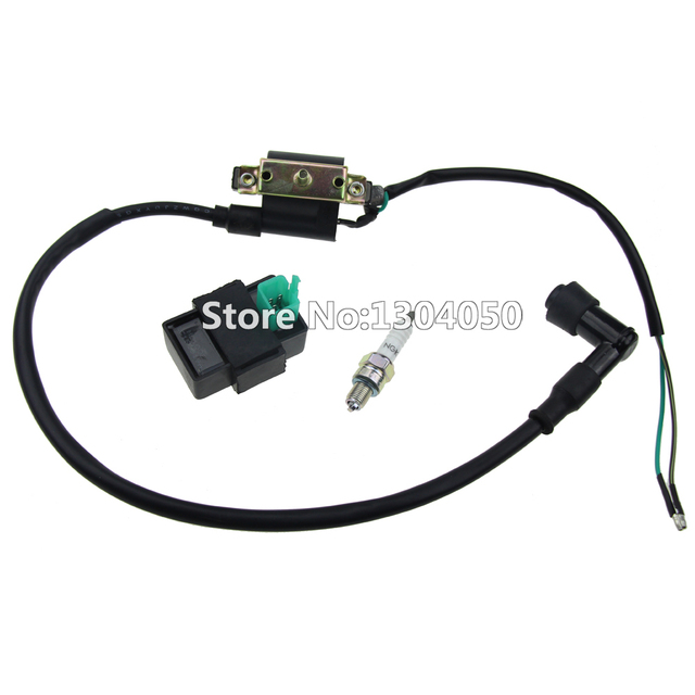 Ignition Coil 5 Pin CDI Box NGK Spark Plug For Yamaha IT XT250 DT400 50 70 90 110cc Dirt Bike FREE SHIPPING