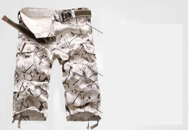 2018 Summer New Thin Section Men Loose Large Size Camouflage Pants Work Pants Youth Khaki Pocket