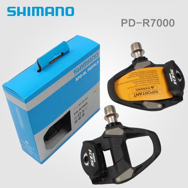 Shimano 105 PD-R7000カーボン自転車SPD-SLロードバイクペダルセットSM-SH11ボックスに新しいShimano