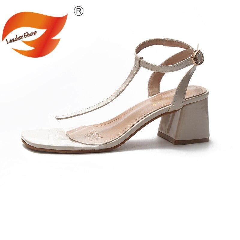 5d198f3e9004 ... 39 Sandals Chunky Dress Party Women Sandals Big Strap Open Ankle Women  Show Summer 2018 Toe ...