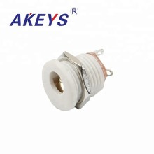 20PCS DC-022 white 5.5*2.1MM round DC power socket jack pcb Mount with screw nut