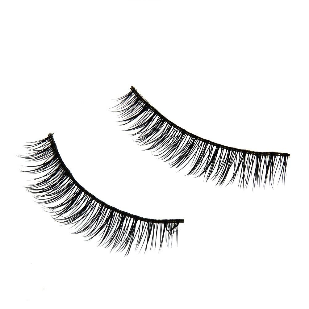 1Pair Natural Long Eye Makeup False Eyelashes Handmade Soft Mink Hair Thick Fake Eyelashes Black Cosmetic Extension Eye Lashes