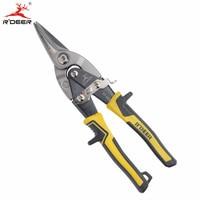 RDEER 10 250mm Metal Scissors Snips Aviation Scissors Iron Stainless Steel Plate Cutter Industrial Cutting Tools