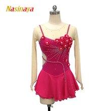 Платье для фигурного катания Nasinaya, индивидуальные юбки для конькобежцев для девочек, женщин, детей, Patinaje, гимнастика, представление 367