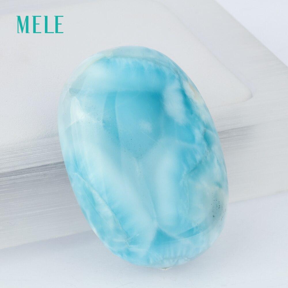 Natural larimar stone pendant, 24.44 gram, big oval 30mm*42mm, deep blue color, rare stone pendant whisky premium deep blue 90 мл parfums evaflor whisky premium deep blue 90 мл