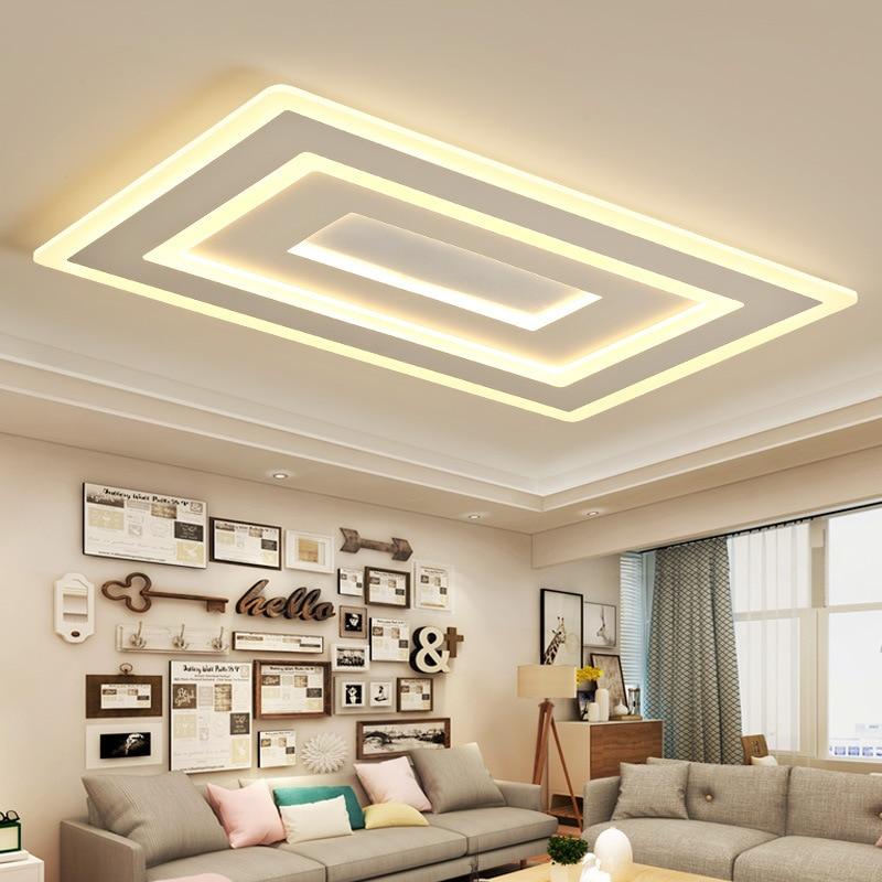 Einfache moderne rechteckige atmosphäre zu hause wohnzimmer lampe led decke  lampe kreative schlafzimmer lampe ultra-dünne lampen WF9
