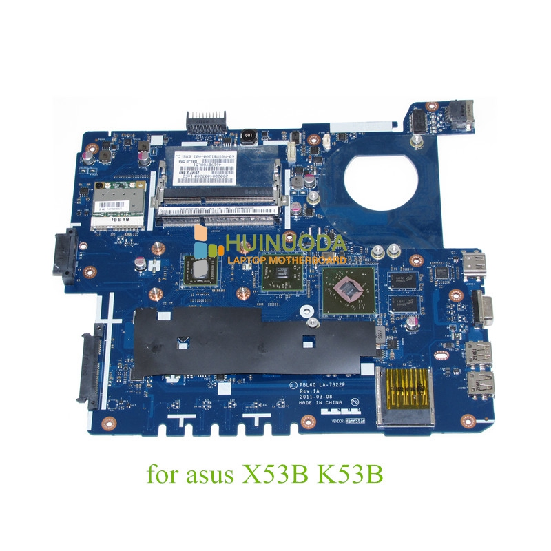 PBL60 LA-7322P Rev 1A For ASUS X53B K53B Laptop motherboard E450 CPU ATI graphics DDR3 Mainboard