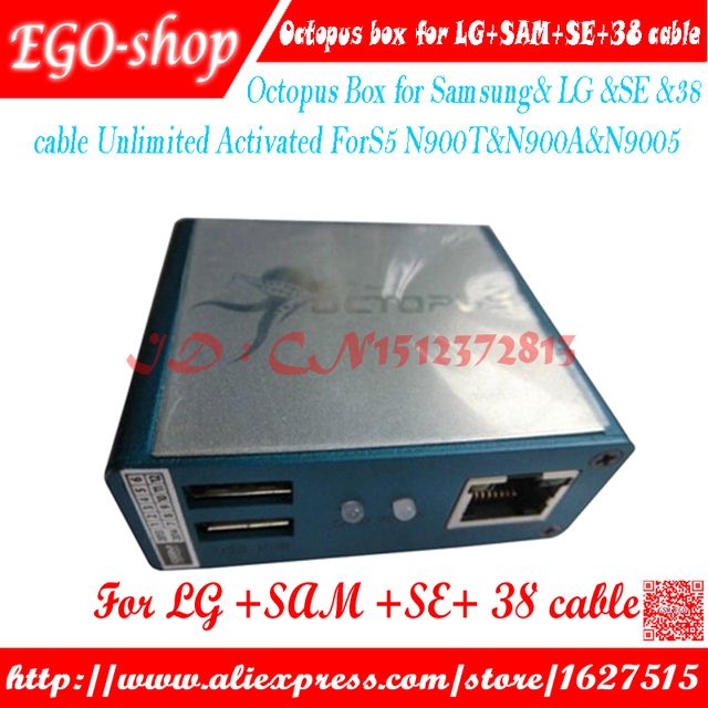 100% original Octopus Box for Samsung& LG &SE Unlimited Activated(packagewith 39 Cables)ForS5 N900T&N900A&N9005