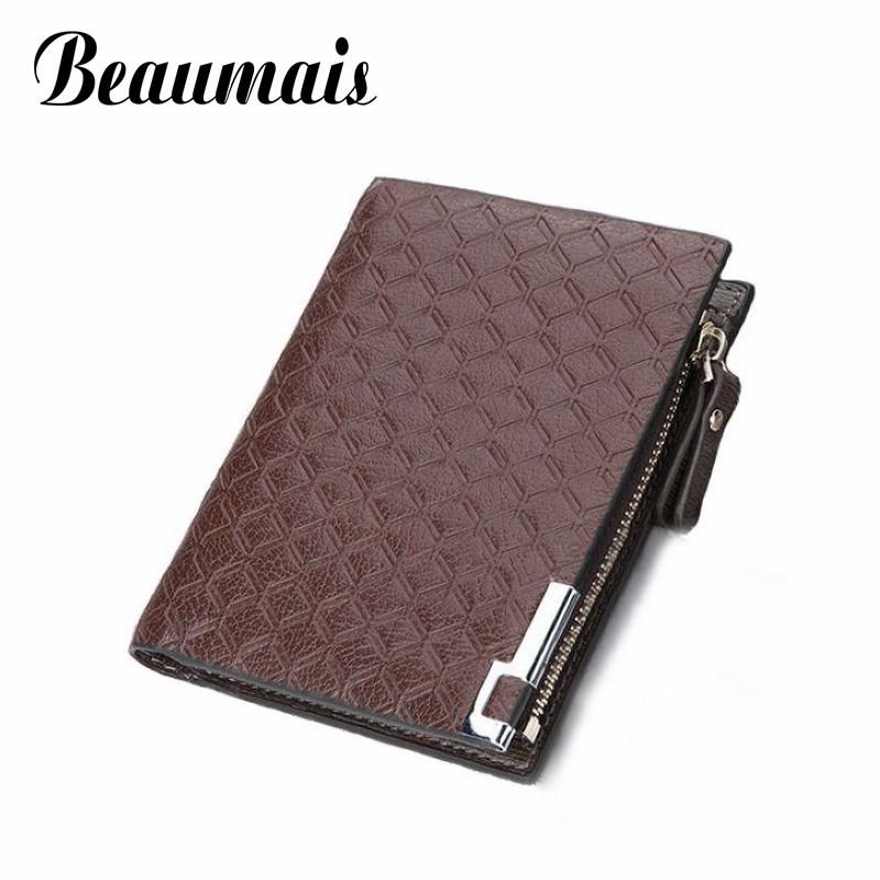Beaumais Elegant Short Wallets For Men Business Bag Korean 2017 PU Leather Wallets Men Coin Purse Cash Purses Card Holder BG769 frank buytendijk dealing with dilemmas where business analytics fall short