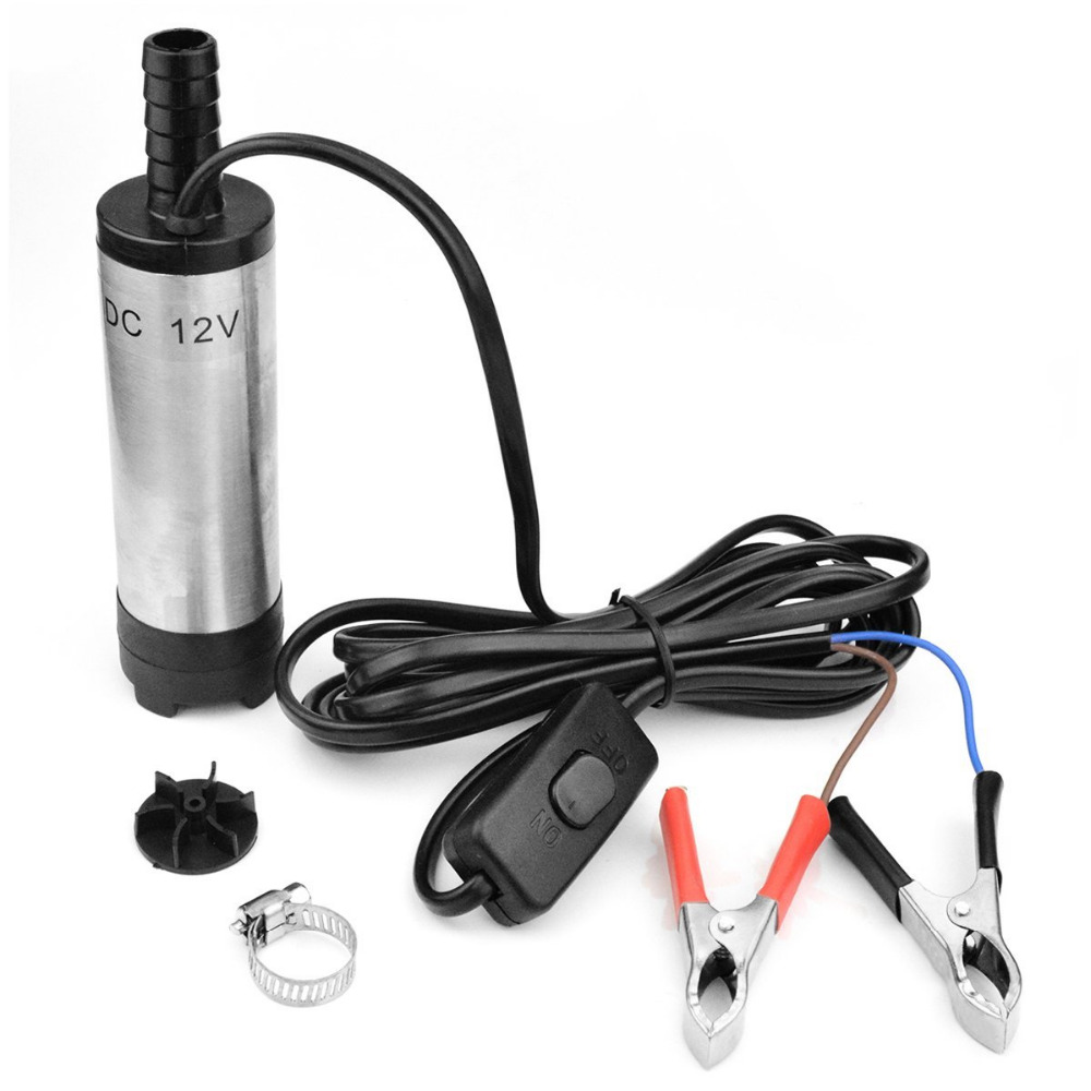 38mm Diesel Fuel Water Car Aluminium Submersible Transfer Pump With Filter 12V