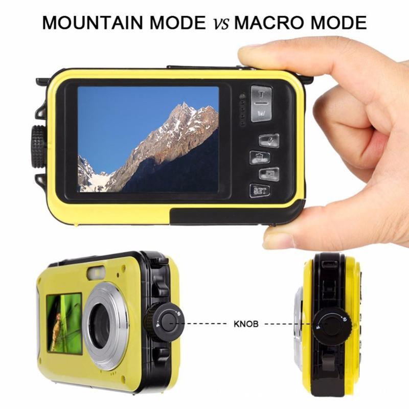 Enfants étanche 24MP Double écran caméra sous-marine enfants en plein air Photo jeu accessoires garçons filles CMOS capteur Mini caméra jouets - 6