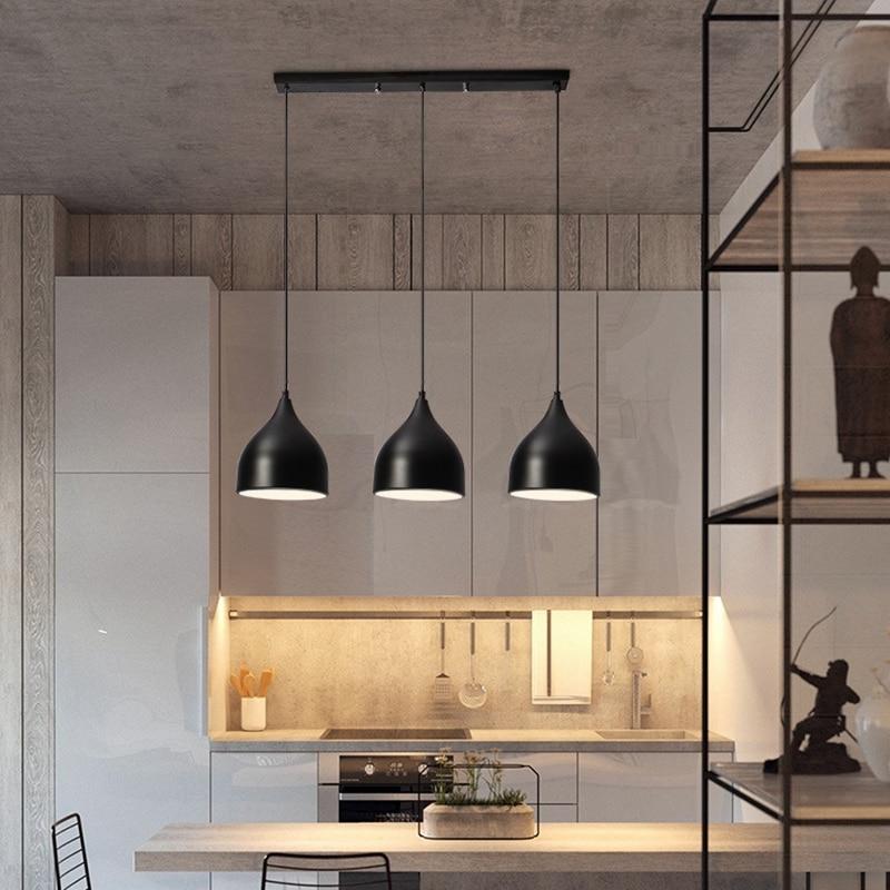 LukLoy Modern Pendant Ceiling Lamps Loft For The Kitchen LED Pendant Lights Hanglamp Hanging Light Fixture Pendant On Line