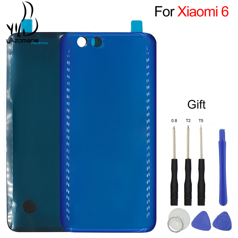 YILIZOMANA <font><b>Original</b></font> Back <font><b>Cover</b></font> For <font><b>Xiaomi</b></font> Mi 6 <font><b>Mi6</b></font> Mobile Phone Rear Door Housings Replacement <font><b>Battery</b></font> Hard case + Free Tools image