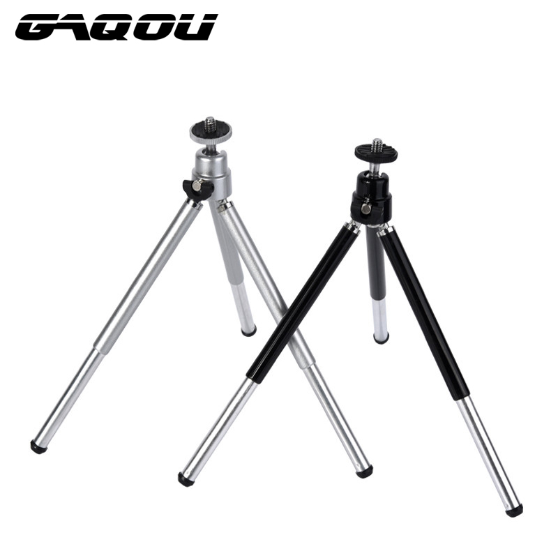 GAQOU Mini Tripod Mount Adapter För Gopro Digital Camera Självutlösare Smart Phone För iPhone Samsung Mobiltelefon Skalbar Stativ