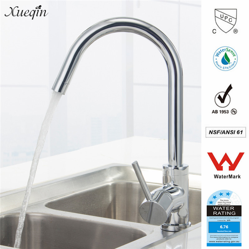 Xueqin Watermark&Wels Stainless Steel Kitchen Faucet DR Brass Construction Ceramic Cartridge Zinc Handle With Two Braided Hoses dr512 dr 512 dr 512 drum cartridge for konica minolta bizhub c364 c284 c224 c454 c554 image unit with chip and opc