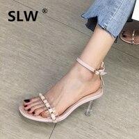 Comfort Shoes For Women Plastic Sandal 2019 Sandals Clear Heels Med All Match Suit Female Beige Comfort Block Platform Women's