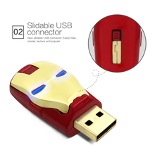 usb flash drive Gold sliver pend drive iron man U disk memory stick 4gb 8gb 16gb 32gb pendrive flash disk of  Gift full capacity