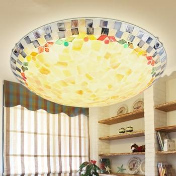 Modern Led Ceiling Lights with manual shell Ceiling Lamp for Living Room Flush Mount Indoor Lighting Bedroom Kitchen Bathroom