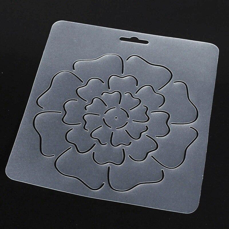 DIY 1Pcs Semi transparent Flower Pattern Stencil Plastic Quilting Template Quilt Tool for ...