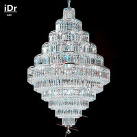 Trendy Crystal Chandelier Lighting Luxury Crystal Chandelier Light Living Room Crystal Chandelier Lamp A9219 80cm W